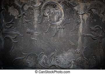 Vintage stucco decoration on a wall