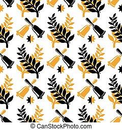 Vintage student graduate seamless pattern design