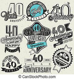 Vintage style 40 anniversary