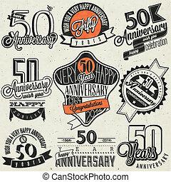 Vintage style 50 anniversary
