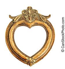 vintage style antique golden frame