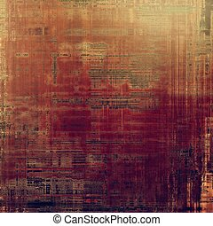 Vintage style background with ancient grunge elements. Aged texture with different color patterns: yellow (beige); brown; purple (violet); red (orange); gray; pink