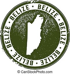 Vintage Style Belize Stamp - Belize Central America