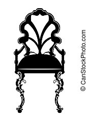 Vintage style Chair with rich ornaments