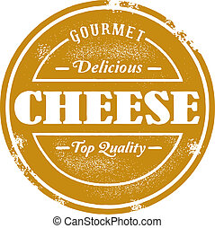 Vintage Style Cheese Stamp - Classic style cheese stamp.