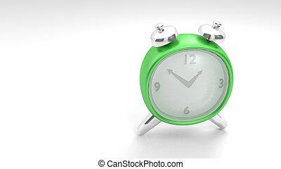 vintage style clock in a 3D Illustration