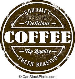Vintage Style Coffee Shop Stamp