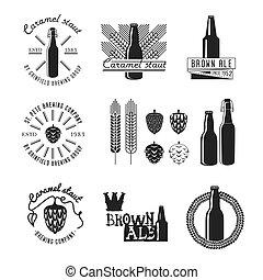 Vintage Style Craft Beer Label.