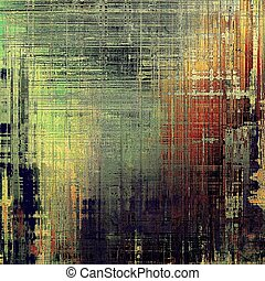 Vintage style designed background, scratched grungy texture with different color patterns: yellow (beige); brown; green; red (orange); gray; black