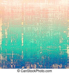 Vintage style designed background, scratched grungy texture with different color patterns: yellow (beige); red (orange); blue; cyan; pink