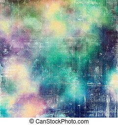 Vintage style designed background, scratched grungy texture with different color patterns: yellow (beige); green; blue; purple (violet); white; cyan