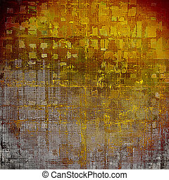 Vintage style designed background, scratched grungy texture with different color patterns: yellow (beige); brown; red (orange); gray