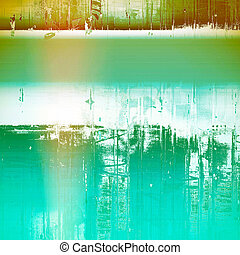 Vintage style designed background, scratched grungy texture with different color patterns: yellow (beige); green; blue; white; cyan; brown