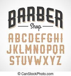 Vintage style font - Barber shop