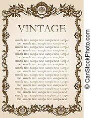 vintage style frame brown