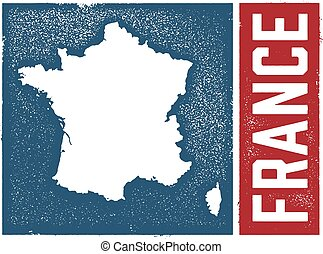 Vintage Style France Map