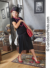 Vintage style girl