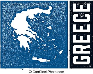 Vintage Style Greece Map