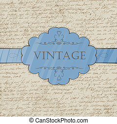 Vintage style greeting card. Vector, EPS 10.