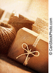 Vintage style handmade gift boxes