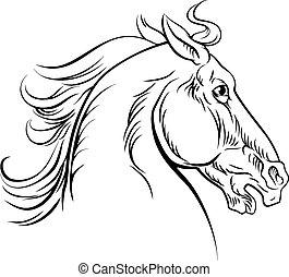 Vintage style horse