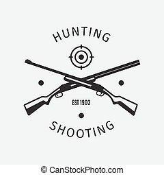 Vintage style hunting shooting club logo