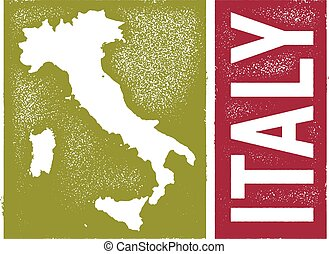 Vintage Style Italy Map