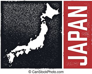Vintage Style Japan Map
