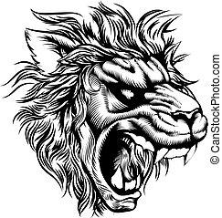 Vintage style lion