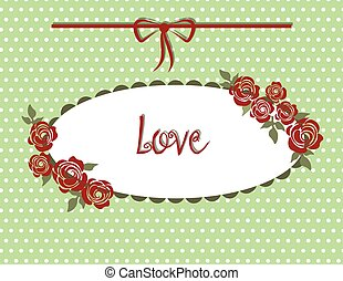 Vintage style Love card