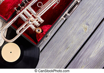 Vintage style musical objects.
