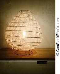 Vintage style photo of a lantern