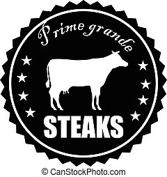 Vintage style prime steaks stamp vector eps 10