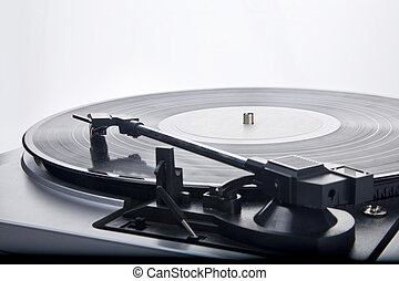 vintage Style Record Player - Old-style vinyl record player...
