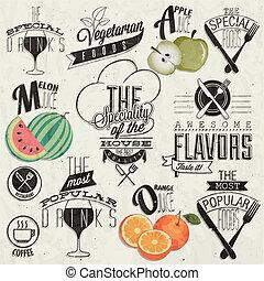 Vintage style restaurant menu