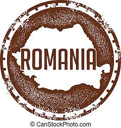 Vintage Style Romania Stamp