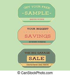 Vintage style sale labels