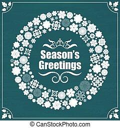 Vintage style season's greetings