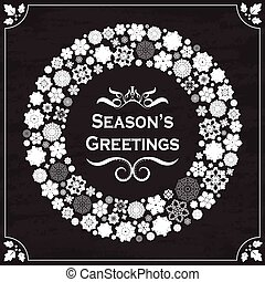 Vintage style season's greetings
