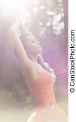 Vintage style Shot of a Stunning Teenage Model - Shot of a...