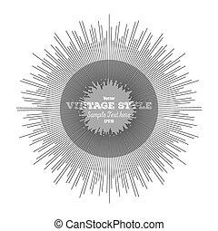 Vintage style star burst, retro element for your design, ...