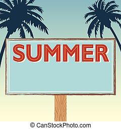 Vintage style summer beach banner