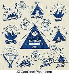 Vintage style symbols for Mountain