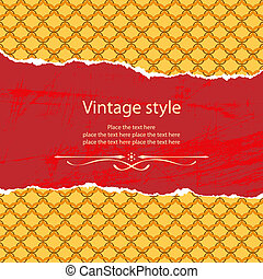 Vintage style template. File contains original seamless