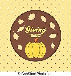 Vintage style thanksgiving design