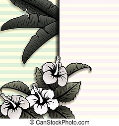 Vintage style tropical banner