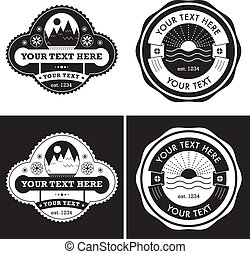 Vintage Style Vector Labels Collection