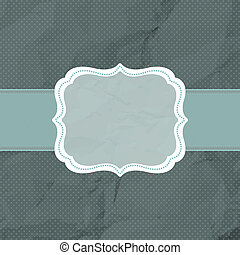 Vintage styled card with polka dot. EPS 8
