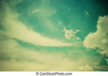 Vintage styled Cloudy and Sky