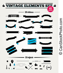 Vintage styled design elements collection.